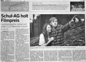 Schul-AG holt Filmpreis
